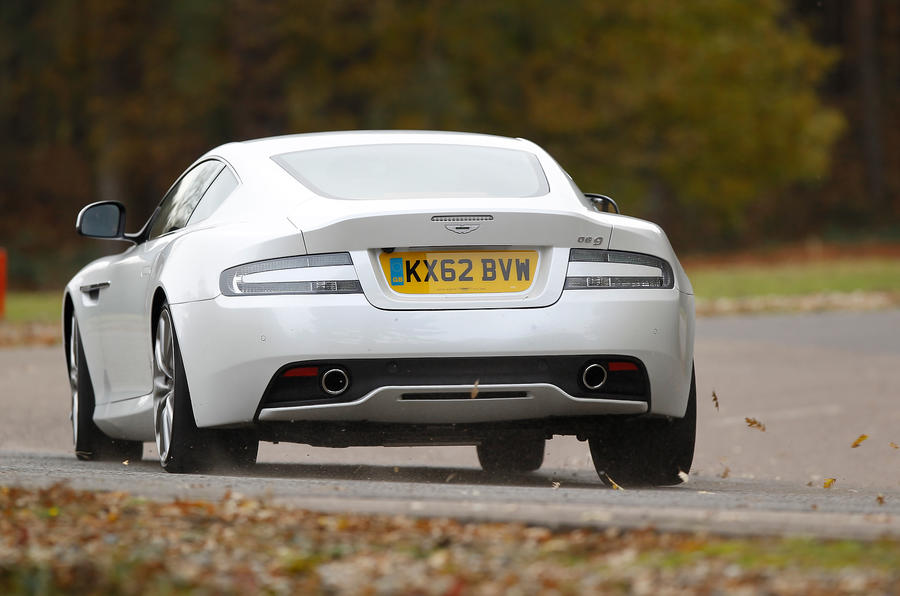 Aston Martin DB9 rear cornering