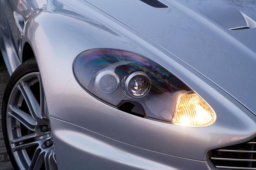 Aston Martin DBS headlights