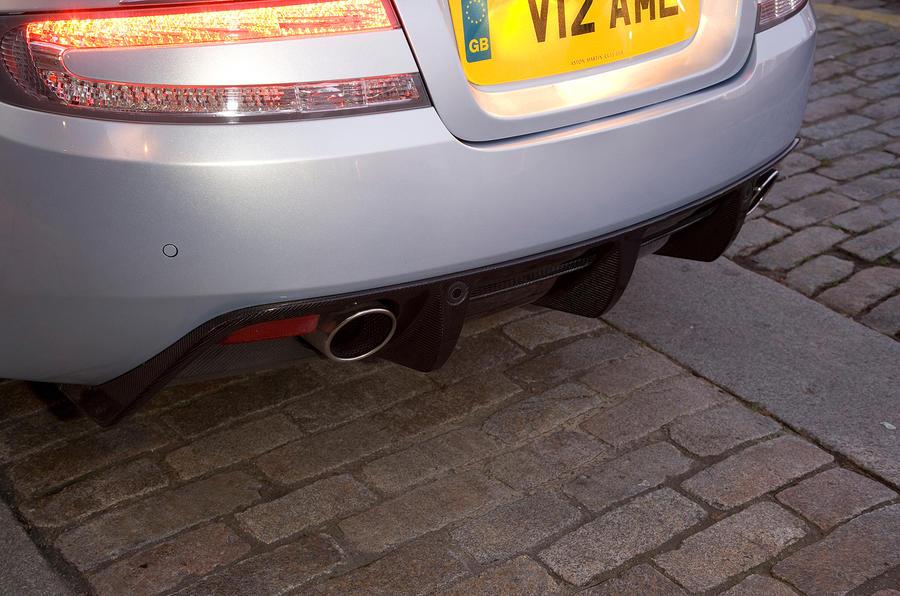 Aston Martin DBS's rear diffuser