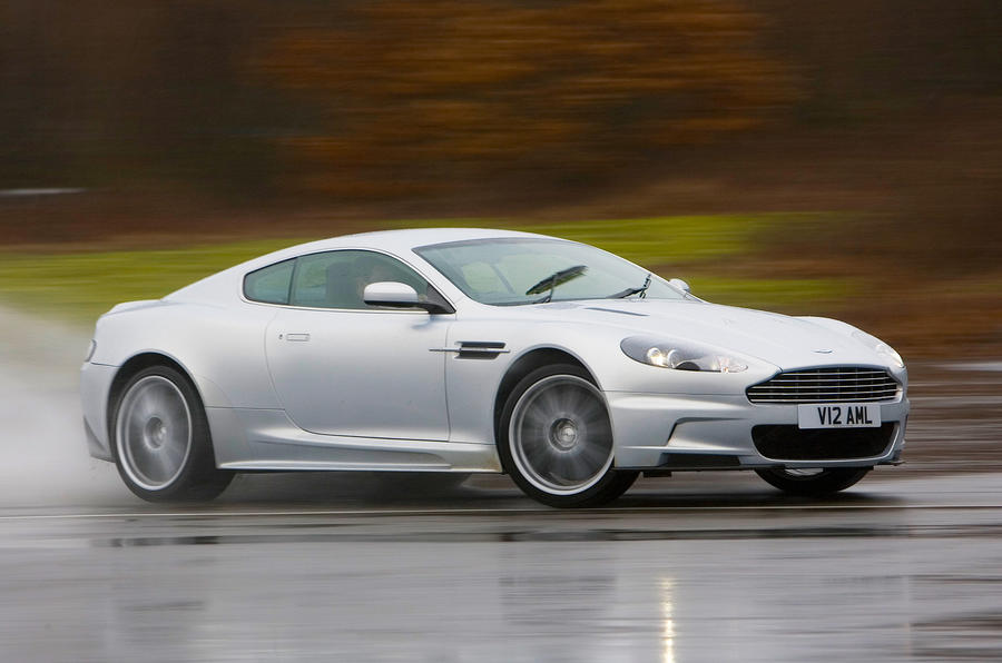 Aston Martin DBS cornering