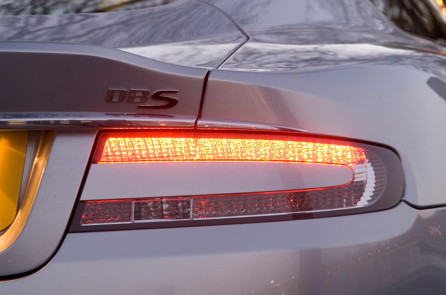 Aston Martin DBS's rear lights