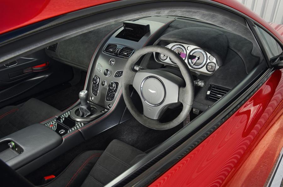 Aston Martin Vantage GT8 dashboard