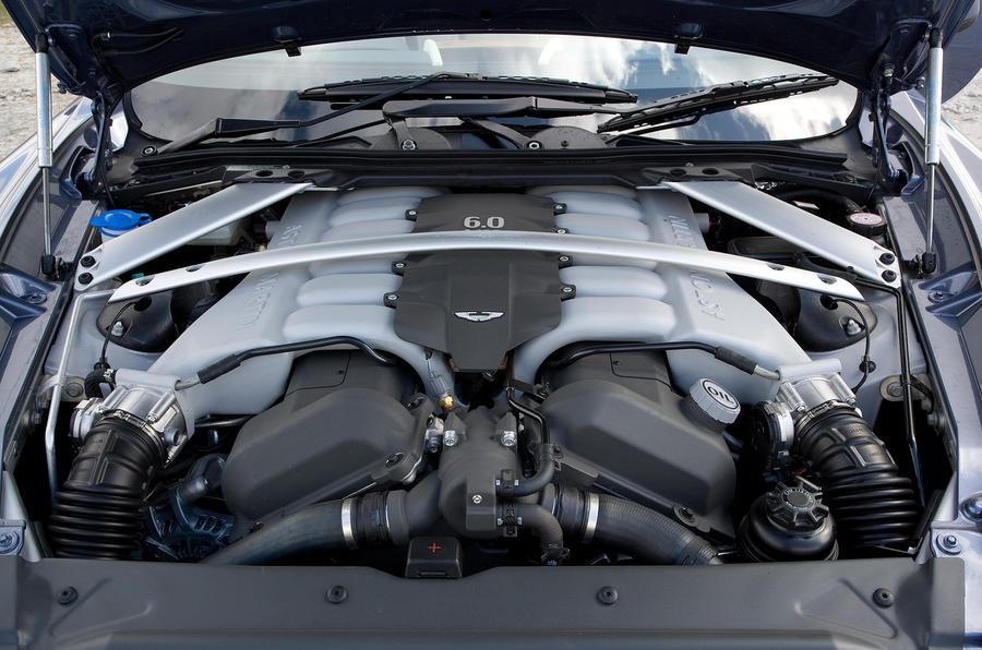 Aston Martin Rapide's 6.0-litre V12 engine