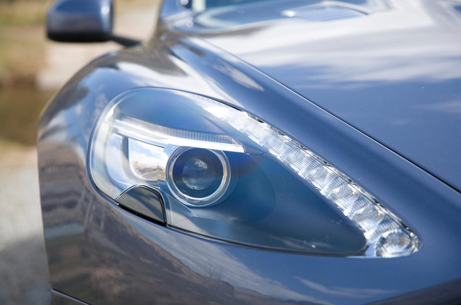 Aston Martin Rapide's distinctive lights