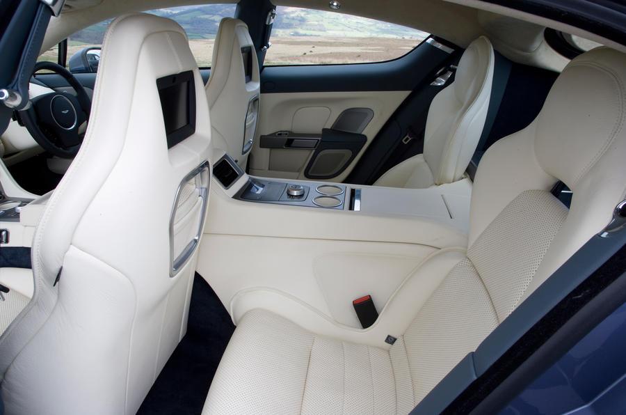 Aston Martin Rapide's rear seats
