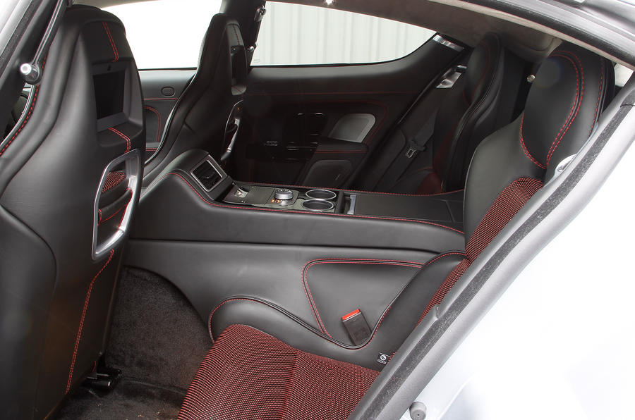 Aston Martin Rapide's rear seats