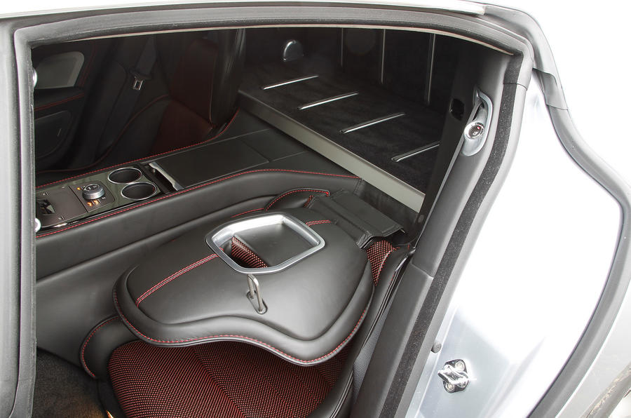 Folding the Rapide's rear seats