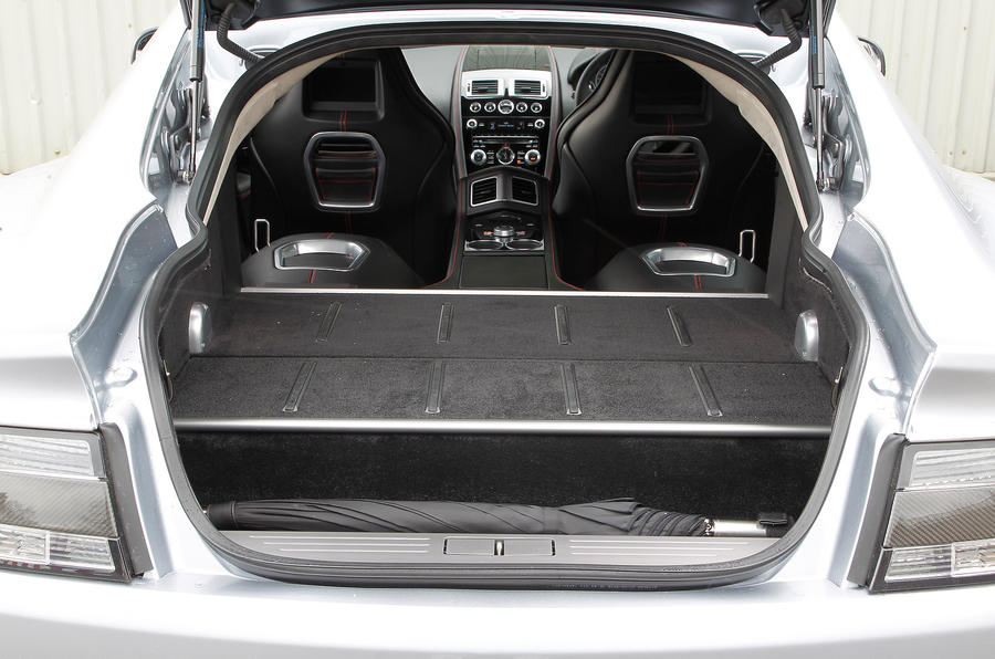 Boot space in the Aston Martin Rapide