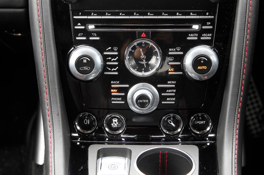 Aston Martin Rapide's centre console