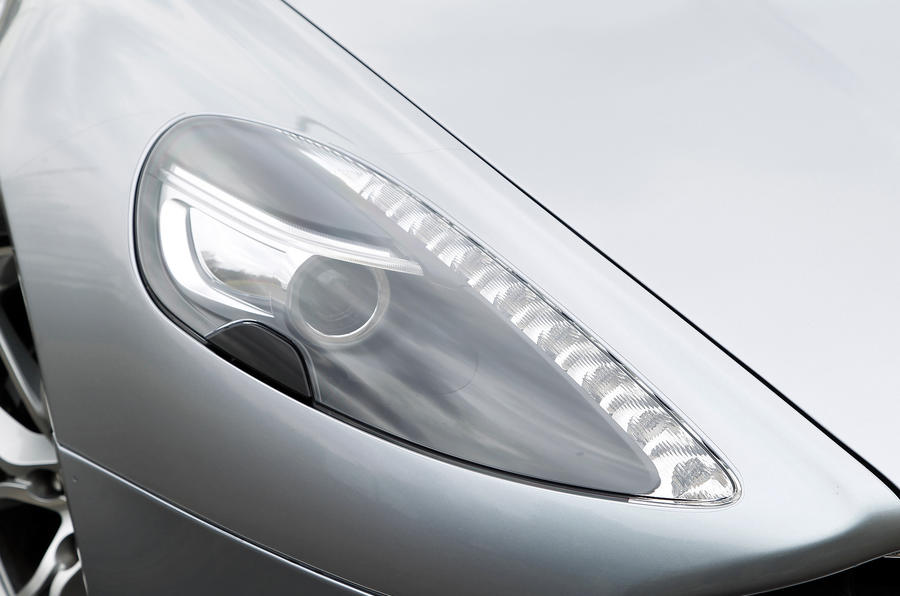 Aston Martin Rapide's distinctive headlight