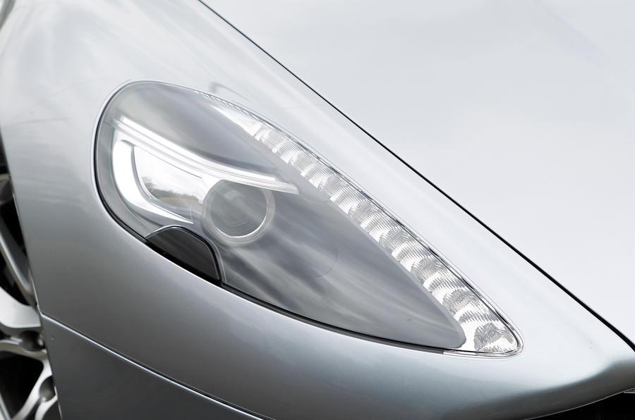 Aston Martin Rapide's distinctive headlight