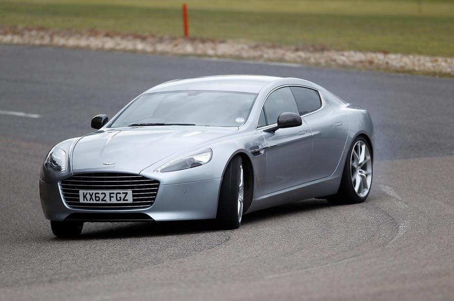 Cornering Aston Martin Rapide