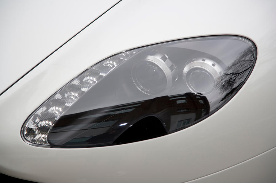 Distinctive Aston Martin headlights