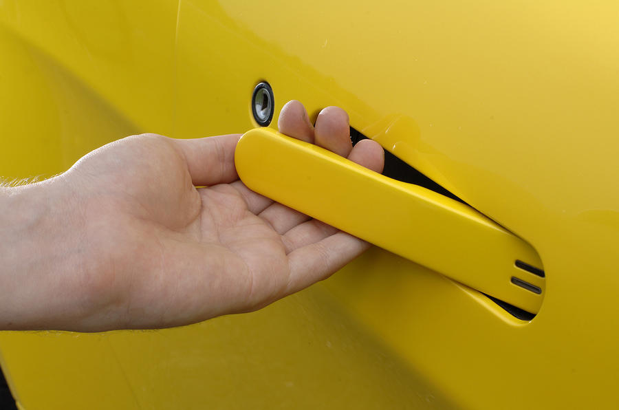 V8 Vantage Roadster's door handle