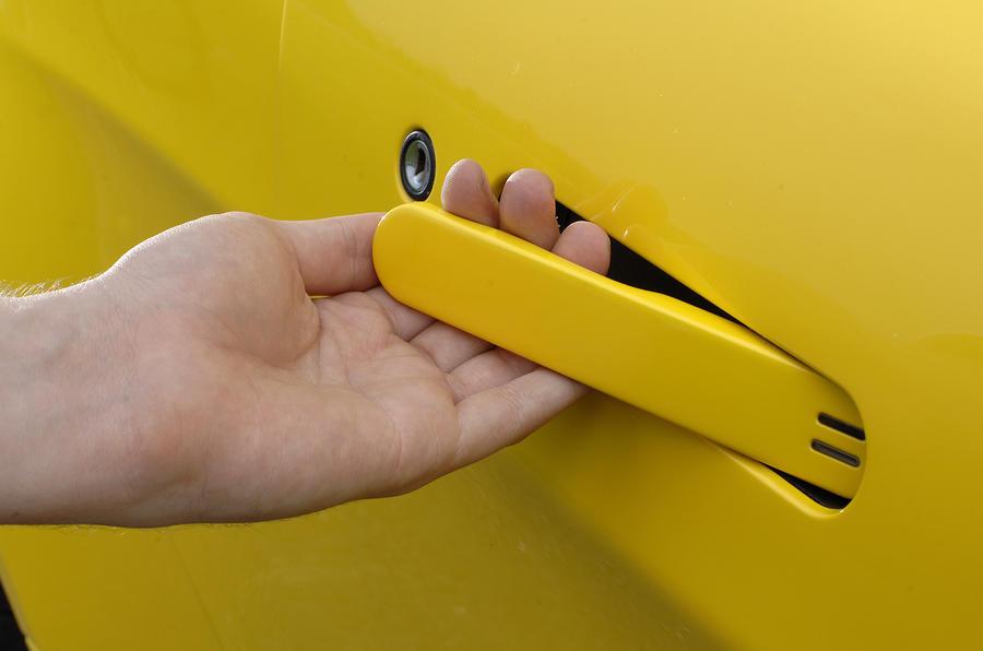 V8 Vantage Roadster's door handle