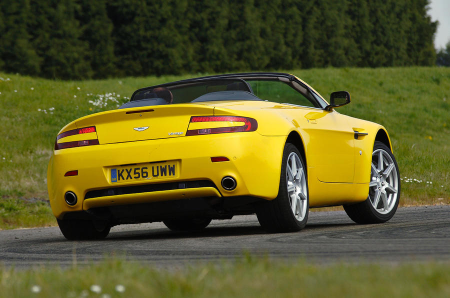 The sizeable Aston Martin V8 Vantage Roadster