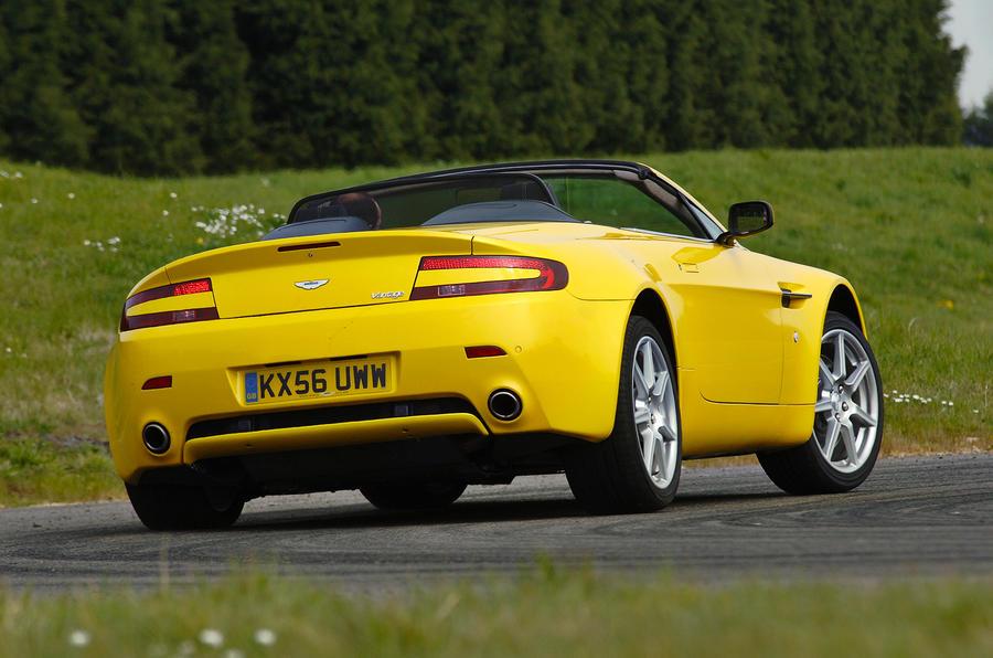The sizeable Aston Martin V8 Vantage Roadster