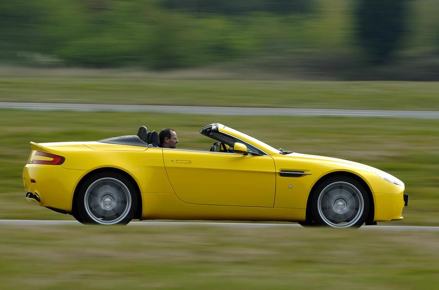 Roofless Aston Martin V8 Vantage