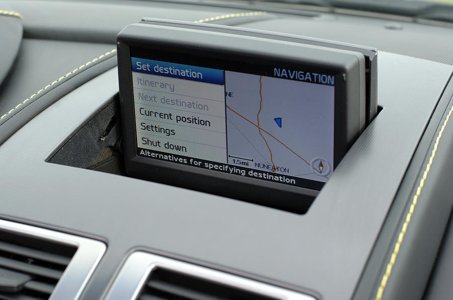 V8 Vantage Roadster's infotainment screen