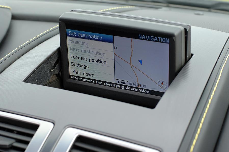 V8 Vantage Roadster's infotainment screen