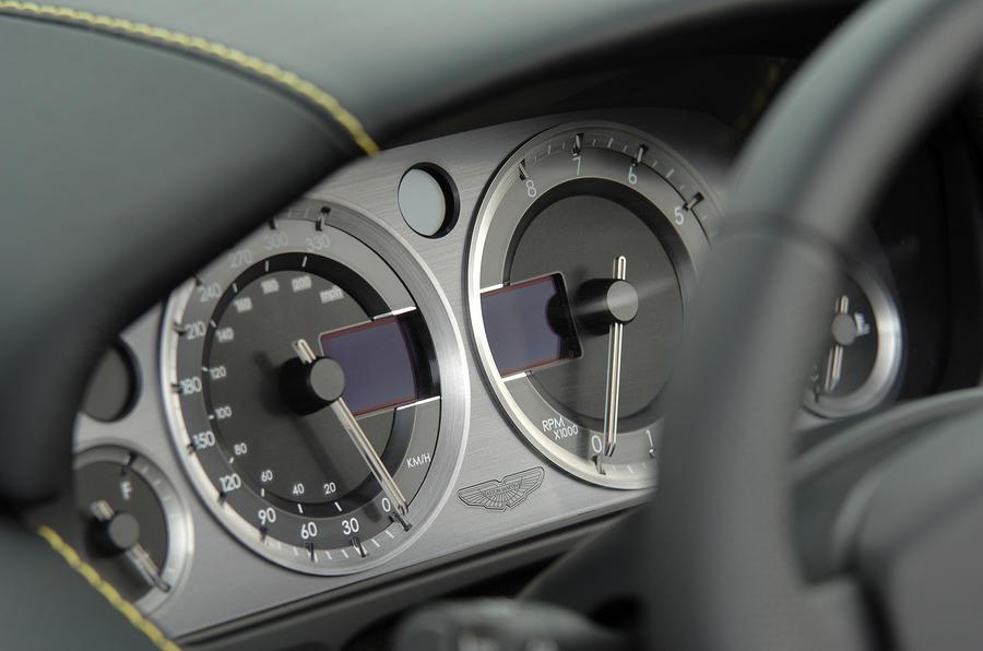 V8 Vantage Roadster's instrument clusters