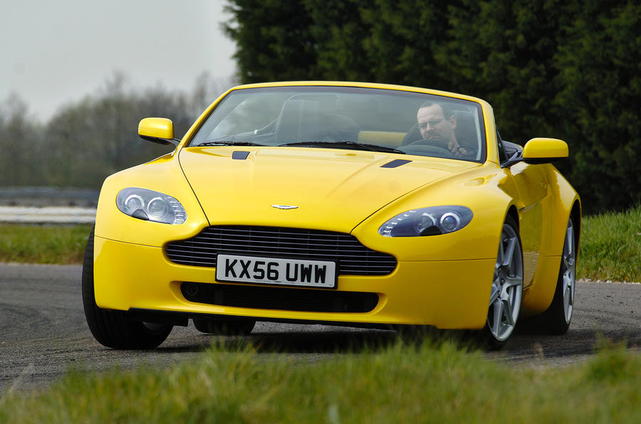 The convertible Aston Martin V8 Vantage