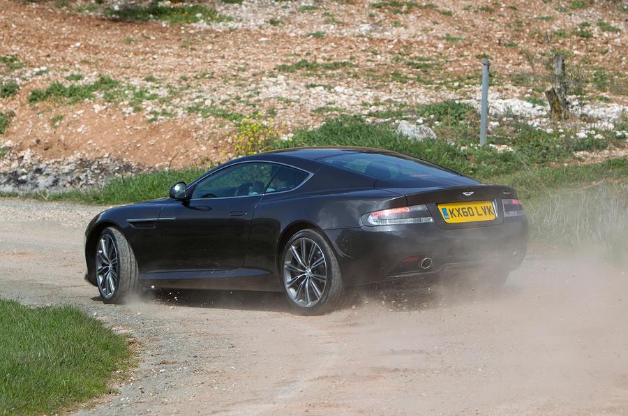 Aston Martin Virage cornering