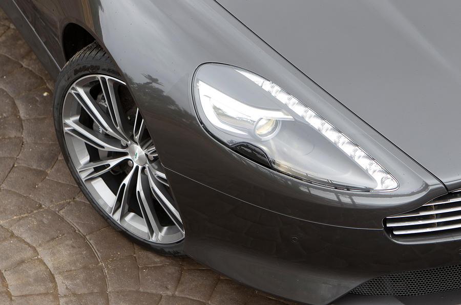 Distinctive Aston Martin Virage headlights