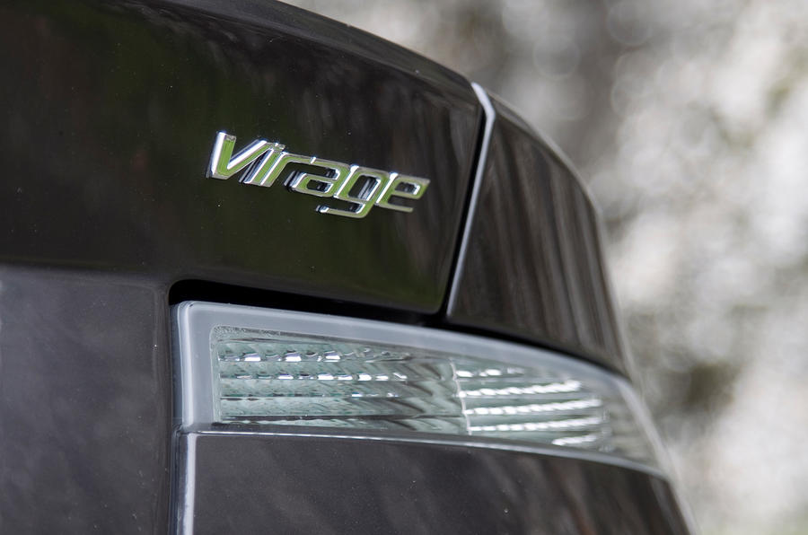 Aston Martin Virage badging