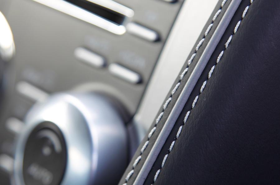Aston Martin Virage's leather interior