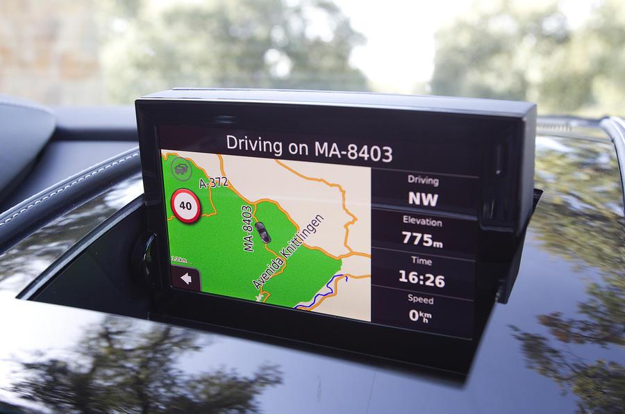 Aston Martin Virage's infotainment system