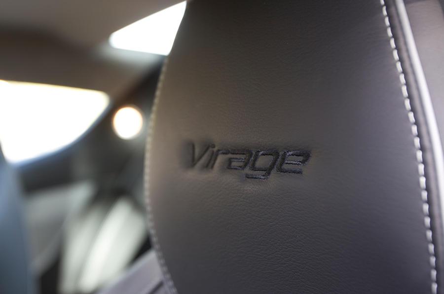 Aston Martin Virage's leather seats