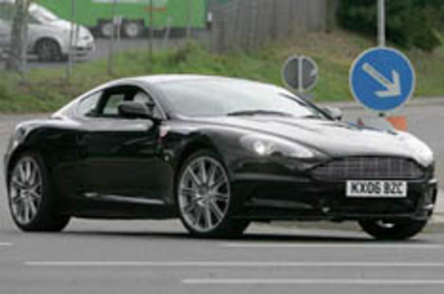 Aston's Bond special caught testing