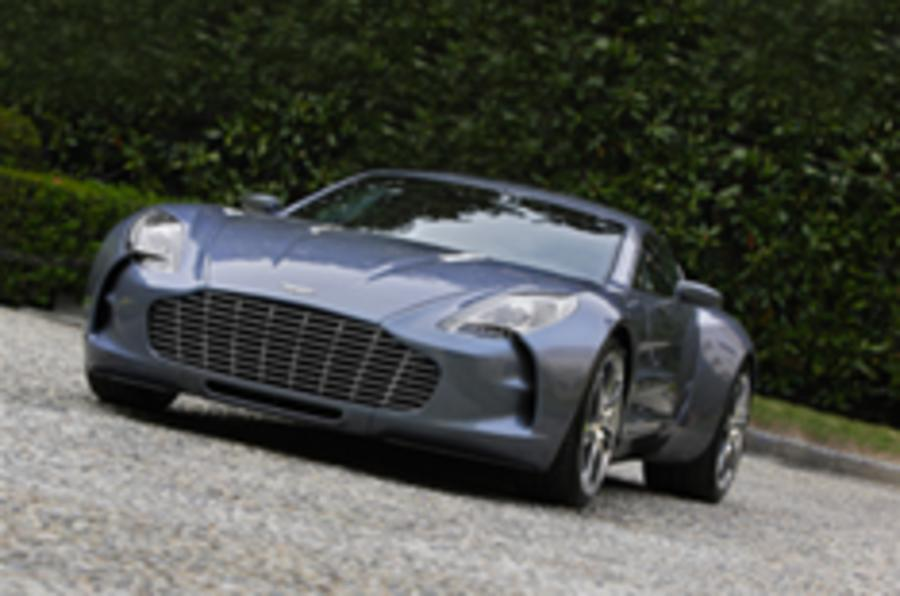Aston One-77's UK debut