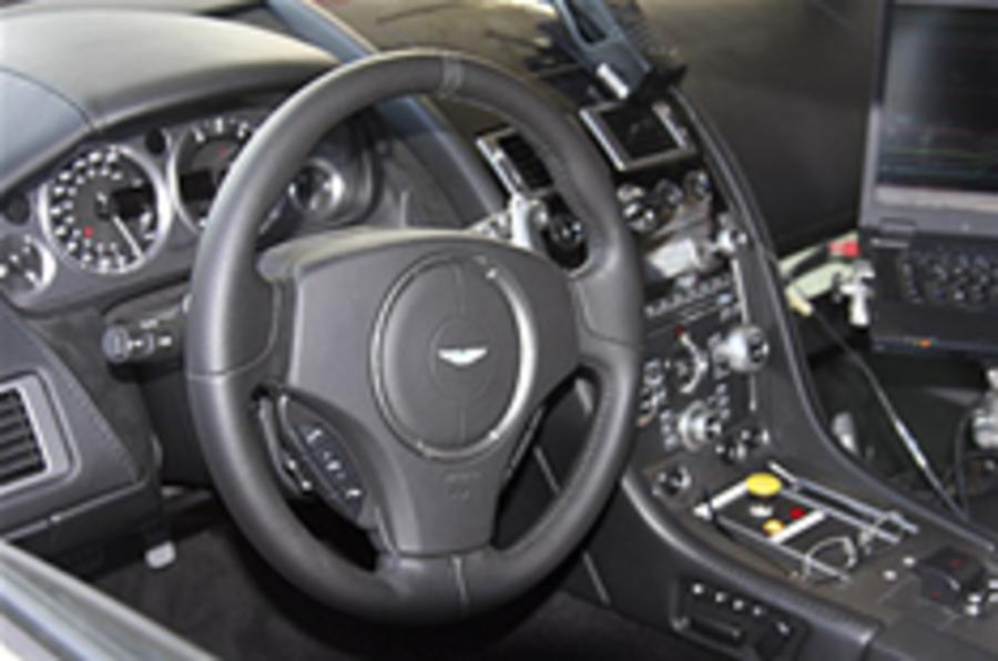 Aston Rapide interior spied
