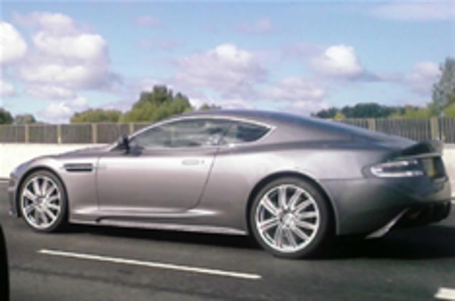 Aston Martin DBS captured on the road