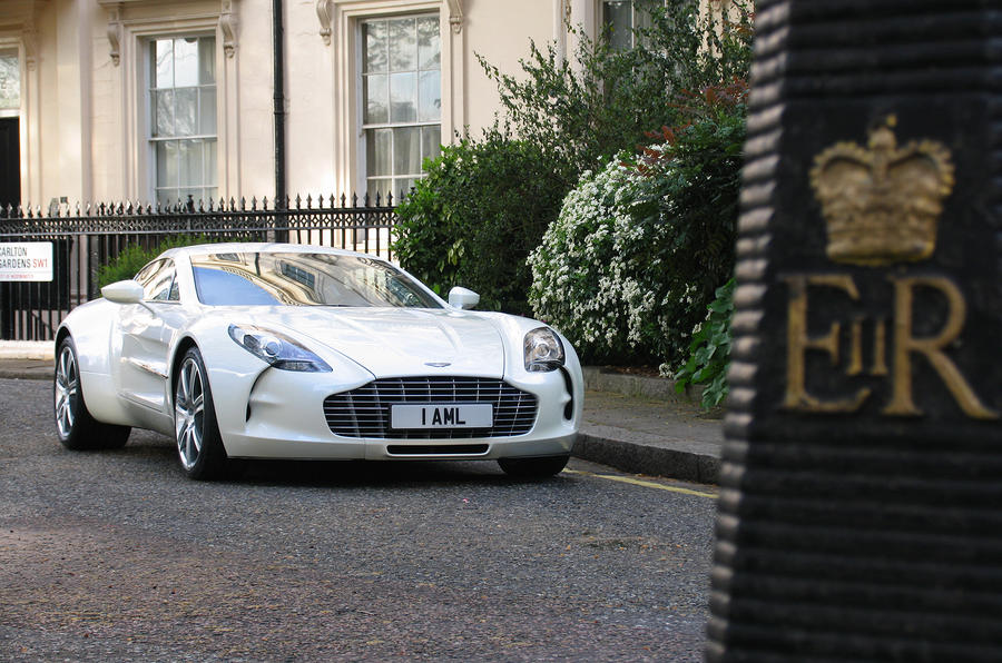 Aston One-77 in London
