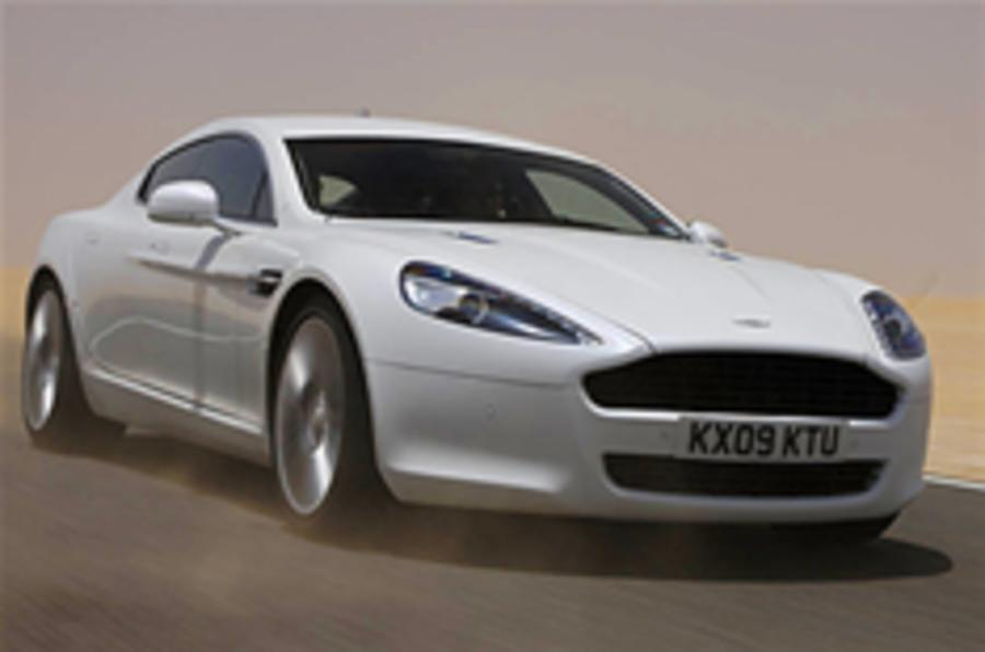 On the road in the Aston Rapide