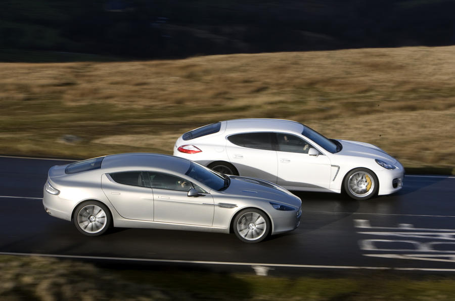 Aston Rapide V Porsche Panamera Autocar