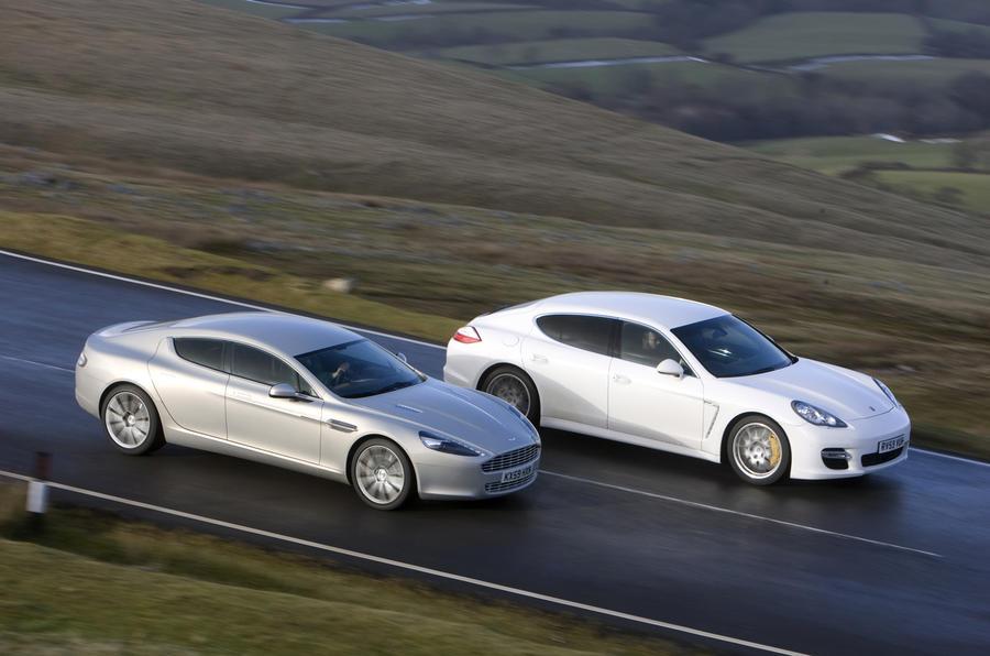 Aston Rapide v Porsche Panamera