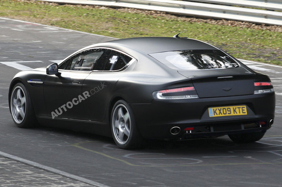 Aston Rapide racer spied