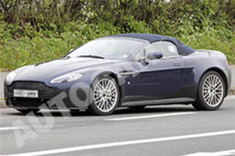 Aston V12 Vantage cabrio spied