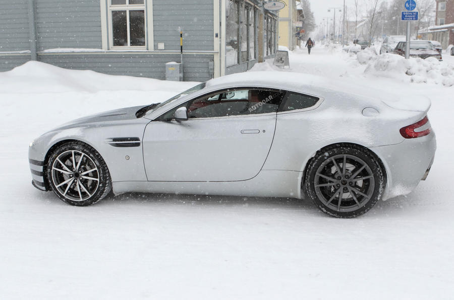 Aston Vantage facelift spied