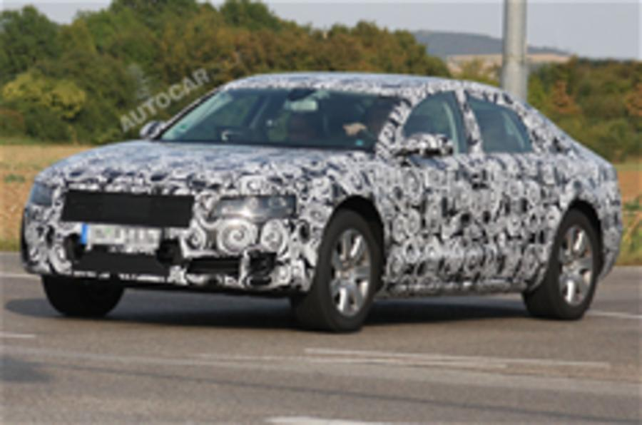 New Audi A8 spied