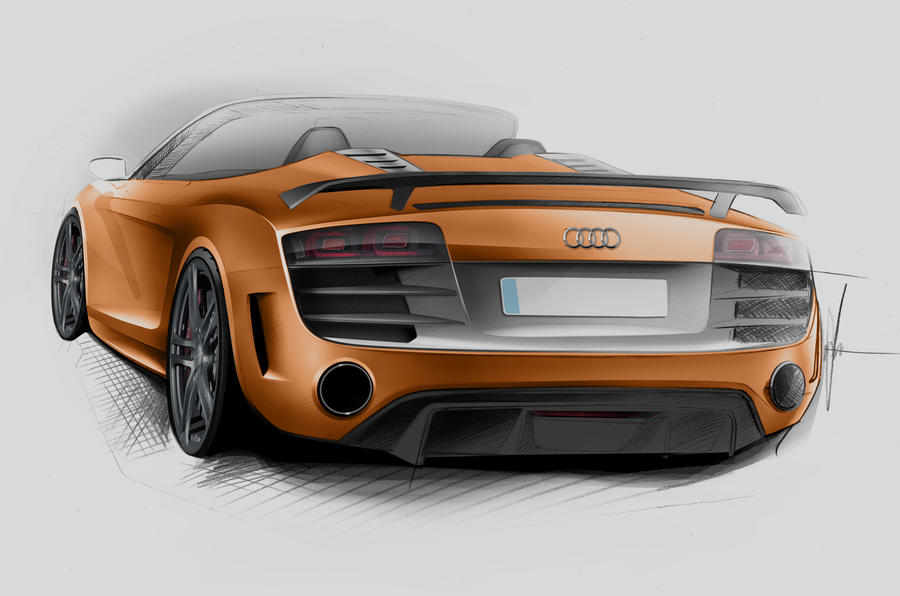 Audi shows new R8 GT Spyder