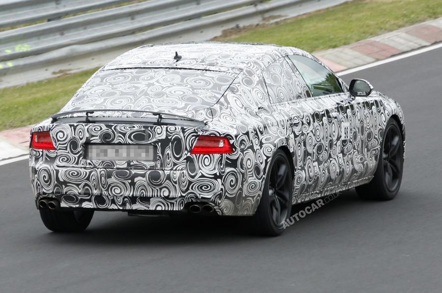 Audi S7: new spy pics