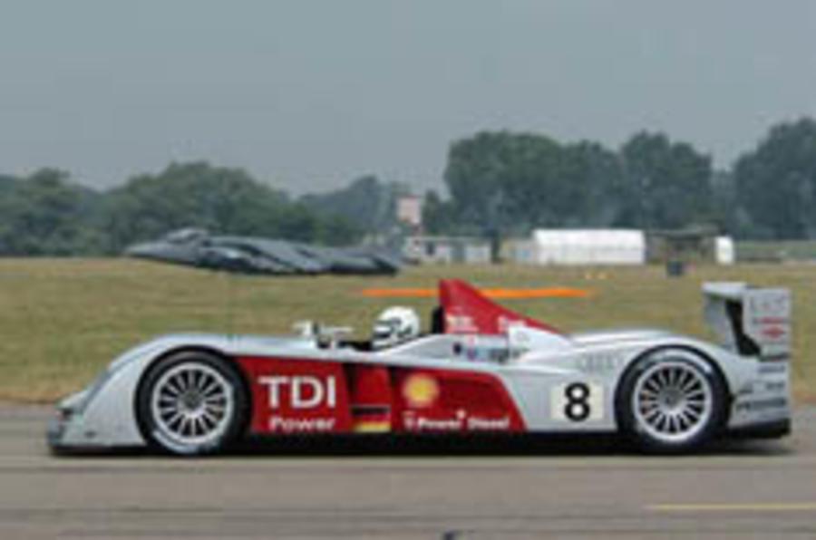 Diesel Le Mans winner races jet