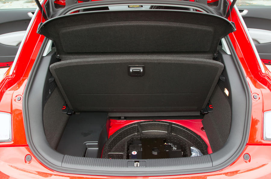 Audi A1's spare wheel