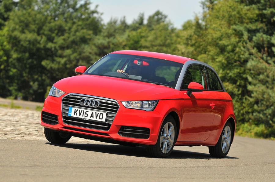 Audi A1 cornering