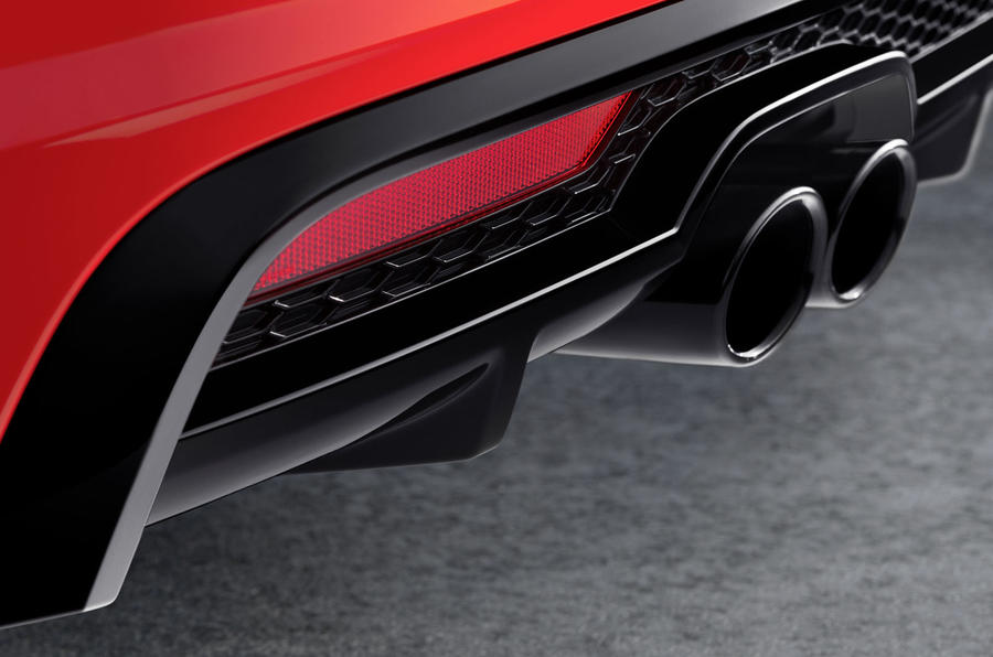 Audi A1 twin exhaust system